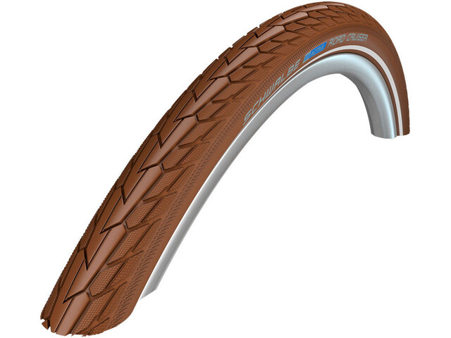 """SCHWALBE Road Cruiser Bike Tyre 26"""" K-Guard Active Reflex brown"""